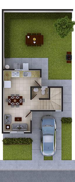 Casas en apodaca nuevo leon modelo marsella vii - Modelos de casas de planta baja ...